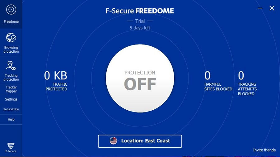 F-Secure Freedome VPN App 1