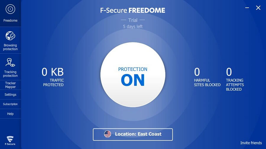 F-Secure Freedome VPN App 3
