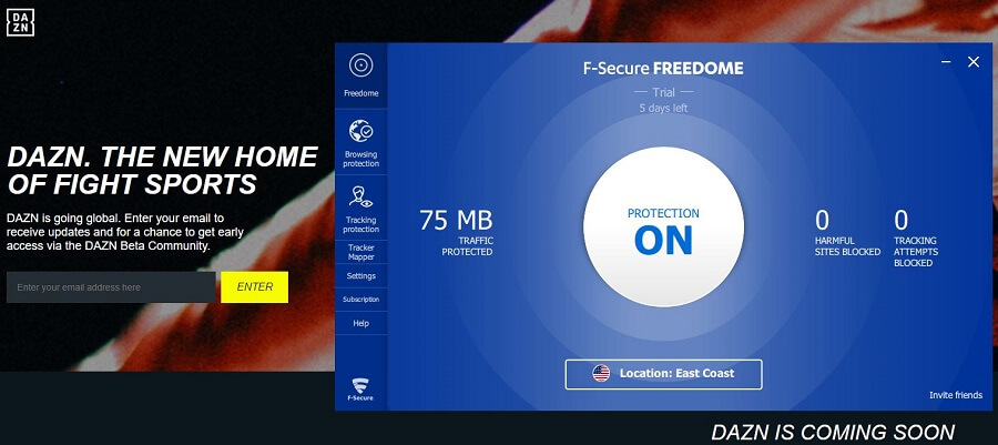 F-Secure Freedome VPN DAZN