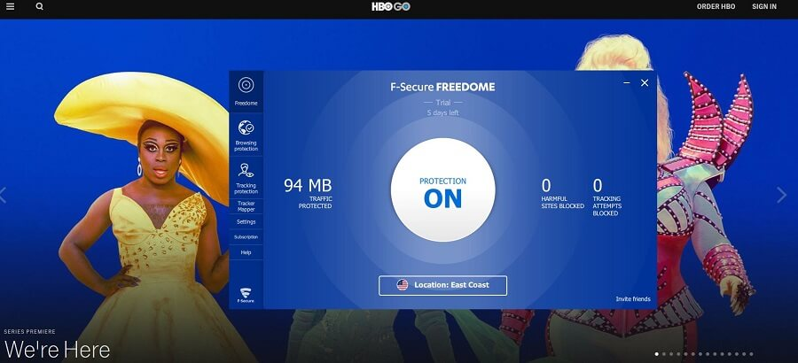 F-Secure Freedome VPN HBO GO