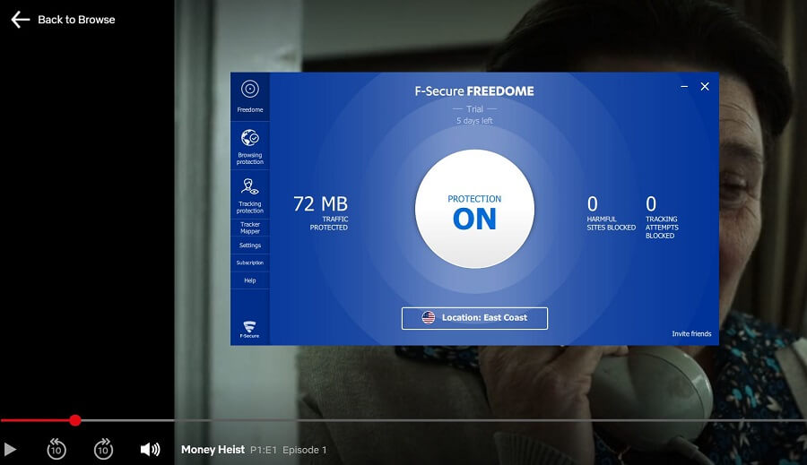 F-Secure Freedome VPN Netflix
