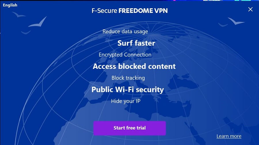 F-Secure Freedome VPN Setup 1