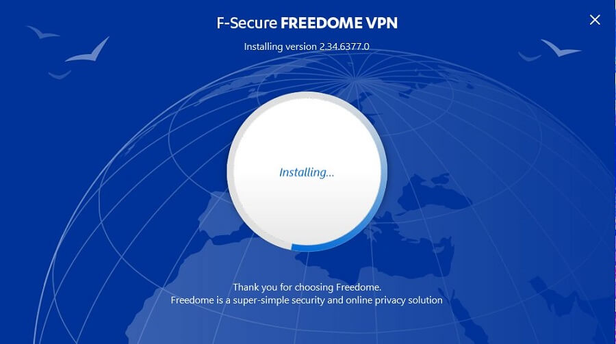 F-Secure Freedome VPN Setup 3