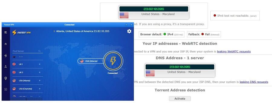 FastestVPN IP Leak Test