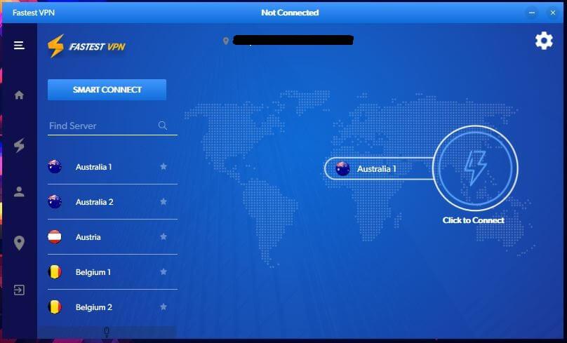 FastestVPN Windows App 1