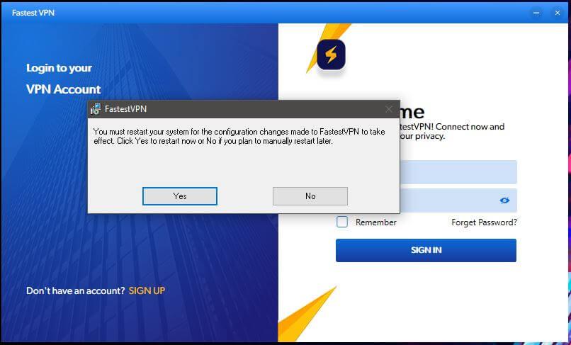 FastestVPN Windows Setup 4