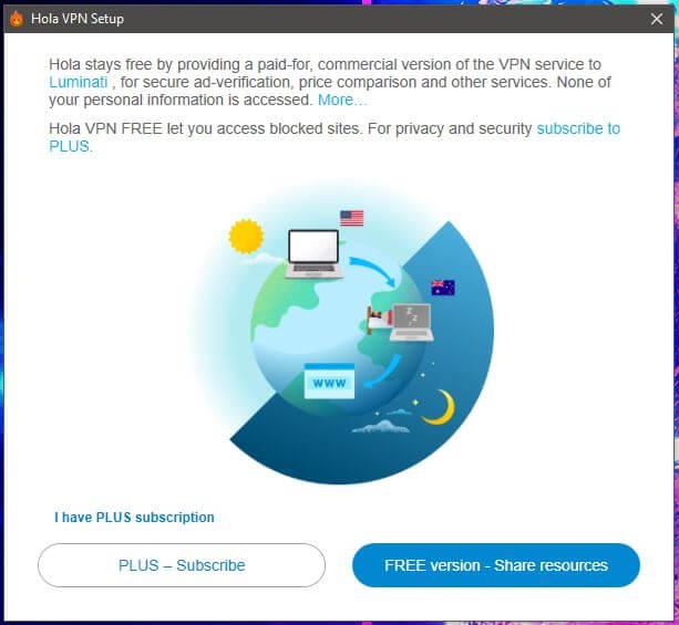 Hola VPN Setup 1