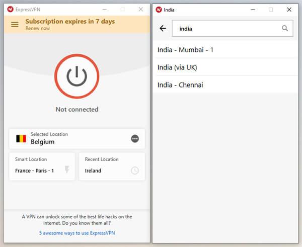 Indian Server ExpressVPN