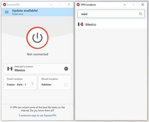 Mexican Server ExpressVPN