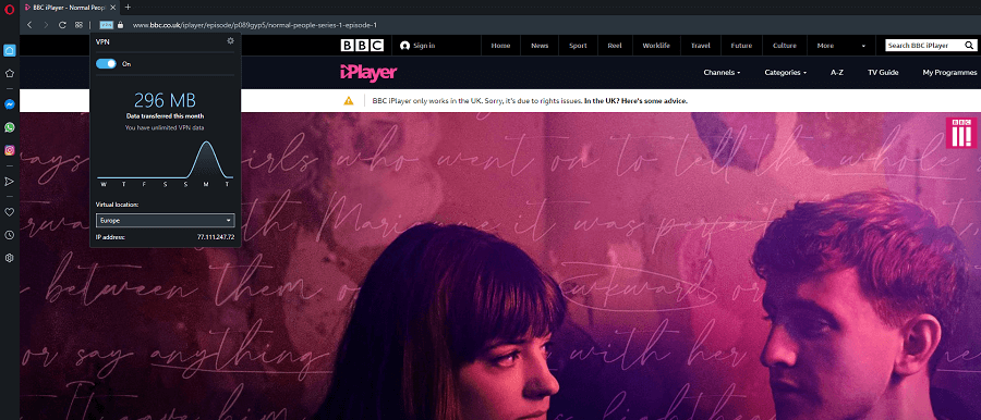 Opera VPN BBC iPlayer