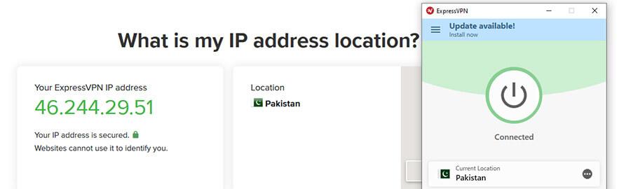 Pakistani IP ExpressVPN