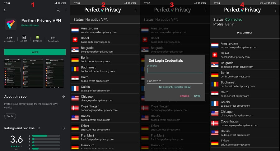 Perfect Privacy Android App