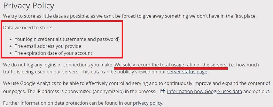 Perfect Privacy Privacy Policy 2