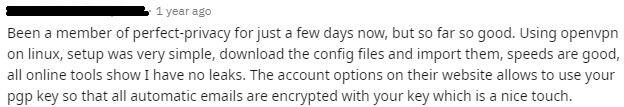 Perfect Privacy Reddit