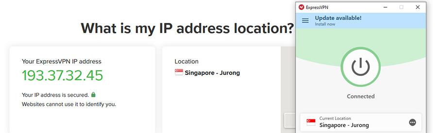 Singaporean IP ExpressVPN