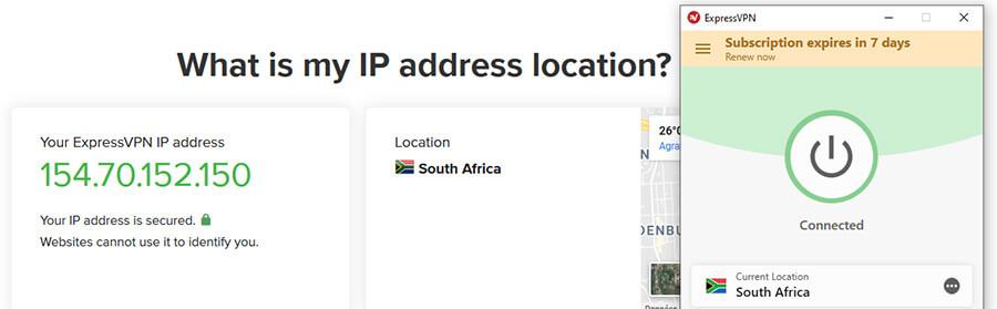 South African IP ExpressVPN