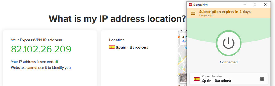Spanish IP address ExpressVPN