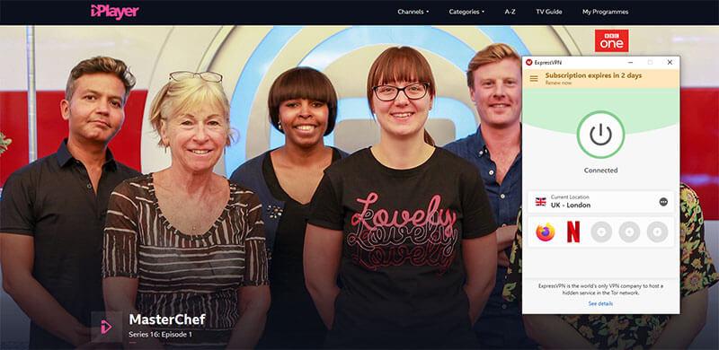 Unblocking of BBC iPlayer - British TV