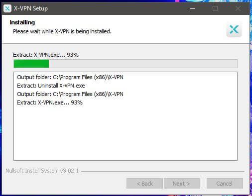 X-VPN Windows Setup 2