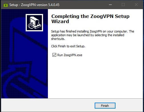 ZoogVPN Windows Setup 4