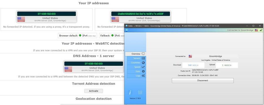 AirVPN IP Leak Test
