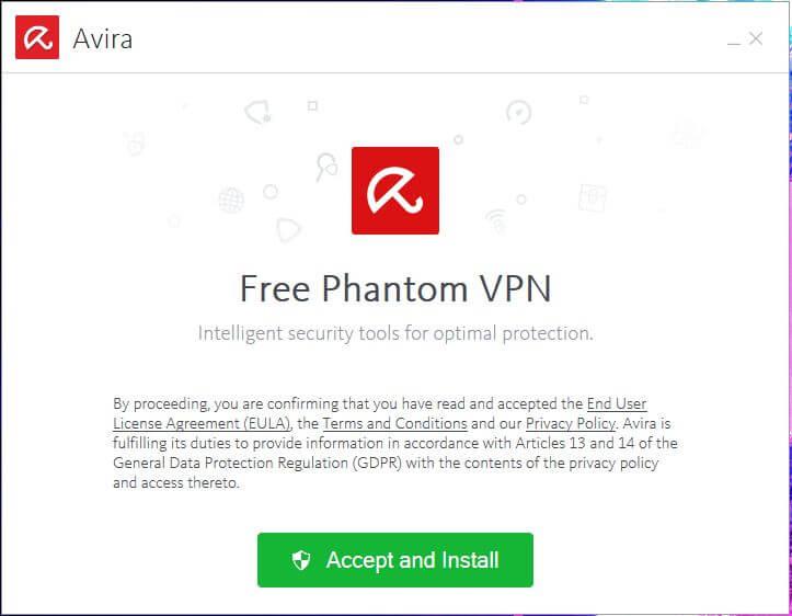 Avira Phantom VPN Setup 1
