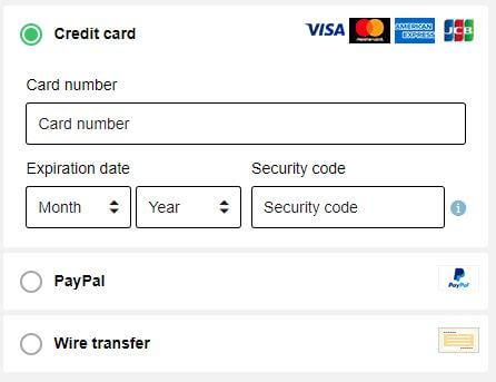 Bullguard Payment Methods