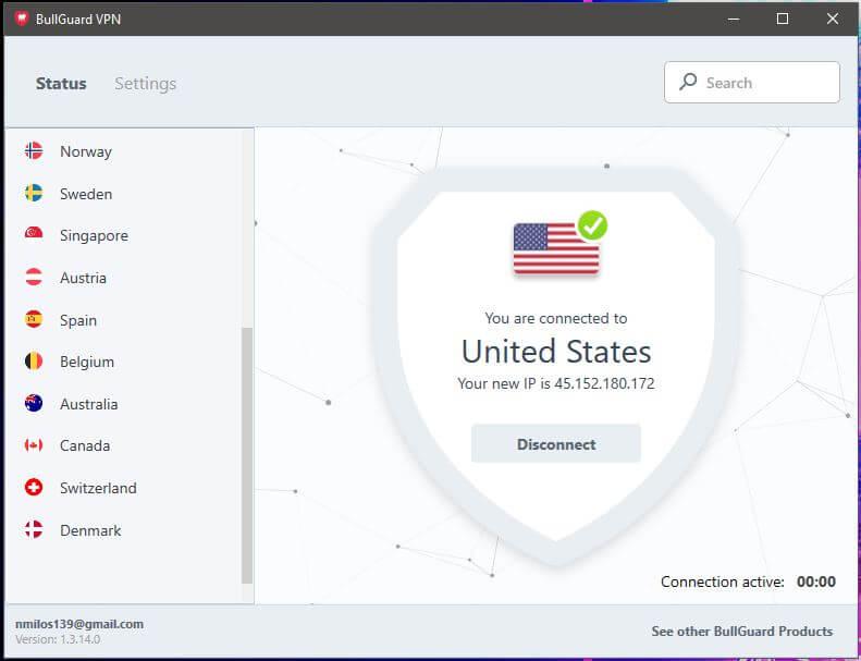 Bullguard VPN App 3