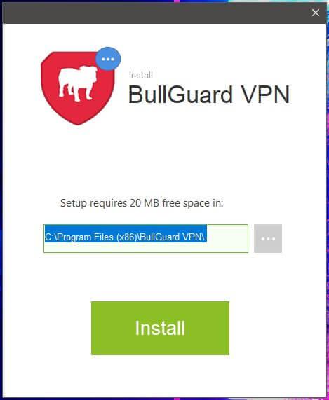 Bullguard VPN Setup 2