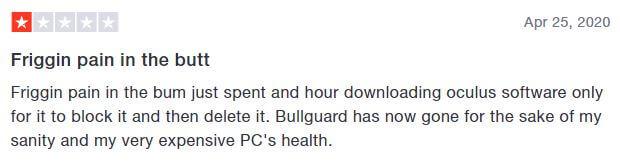 Bullguard VPN Trustpilot