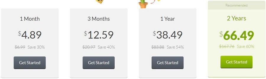 CactusVPN Pricing