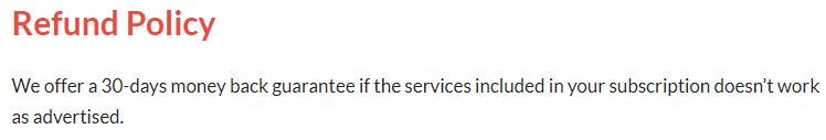 CactusVPN Refund Policy