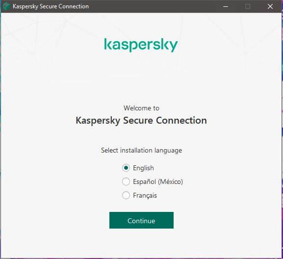 Kaspersky Secure Connection Setup 1