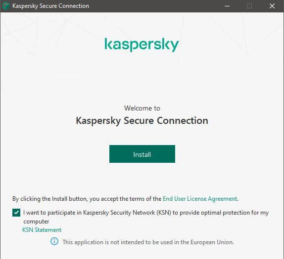 Kaspersky Secure Connection Setup 2