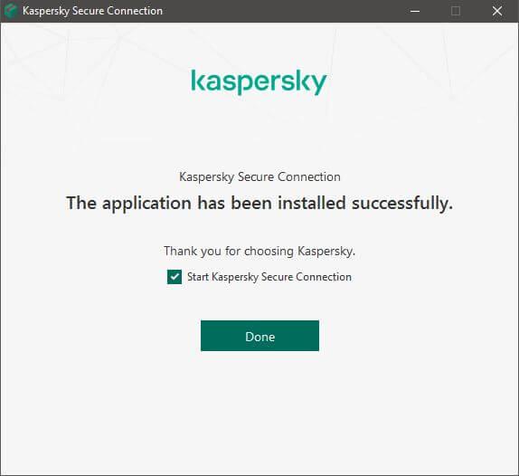 Kaspersky Secure Connection Setup 4