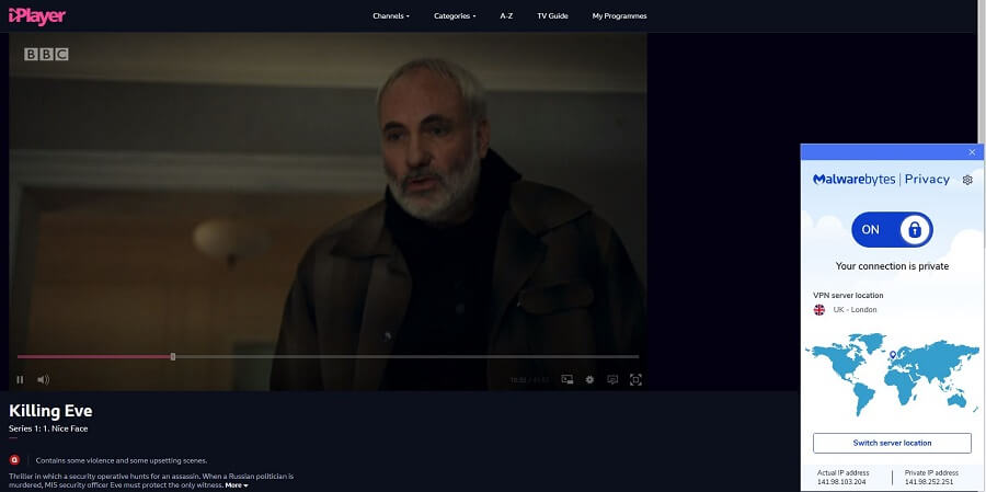 Malwarebytes VPN BBC iPlayer