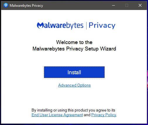Malwarebytes VPN Setup 1