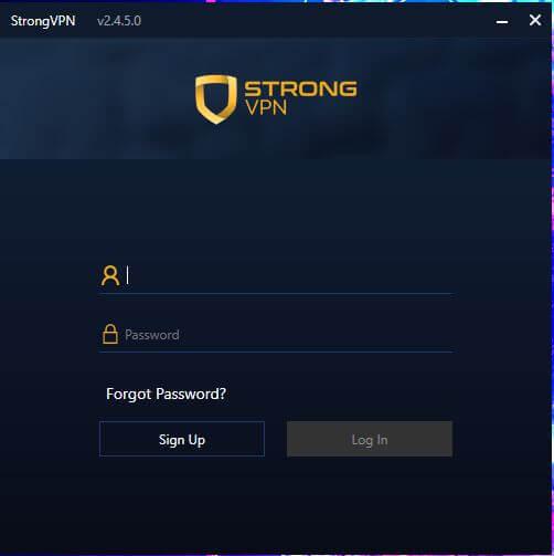 StrongVPN App 1