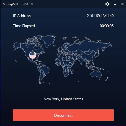 StrongVPN App 4