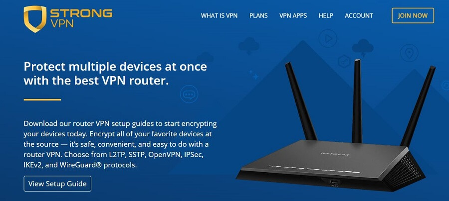 StrongVPN Routers