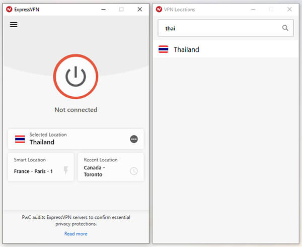 Thai Servers ExpressVPN