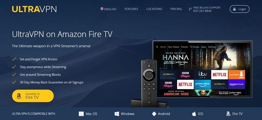 UltraVPN Fire TV