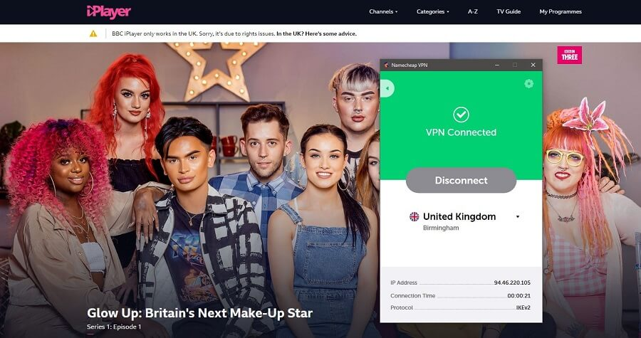 Namecheap BBC iPlayer