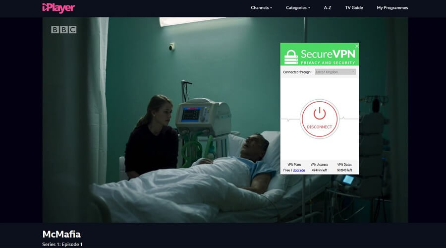 SecureVPN BBC iPlayer