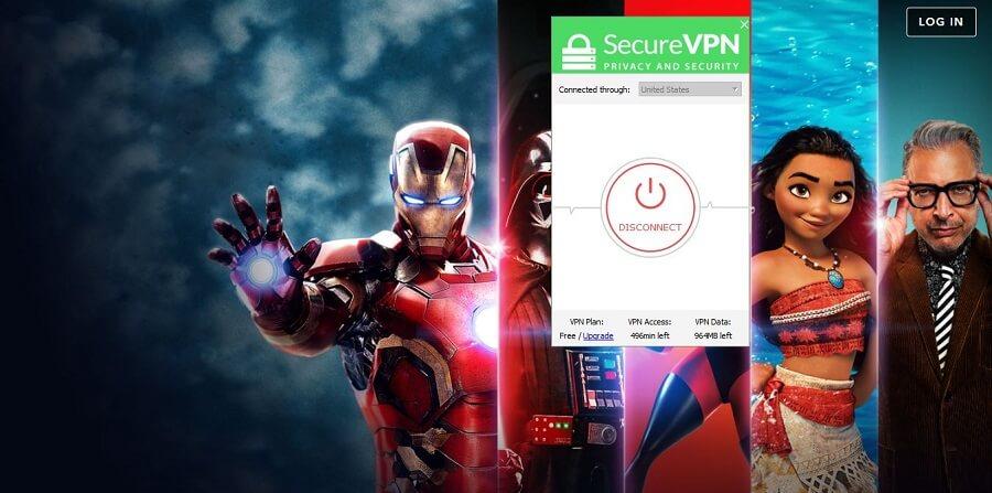 SecureVPN Disney+