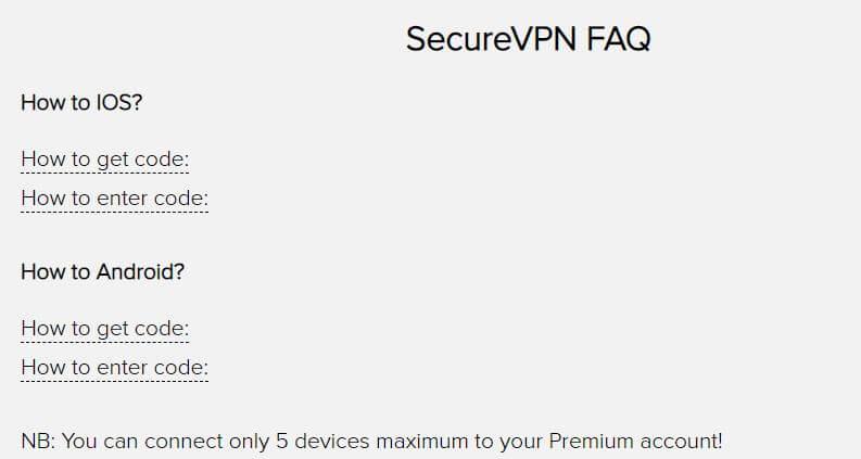 SecureVPN FAQ