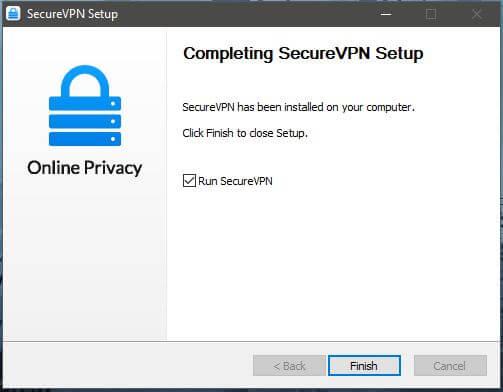 SecureVPN Setup 3