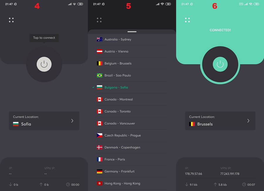 WeVPN Android 2