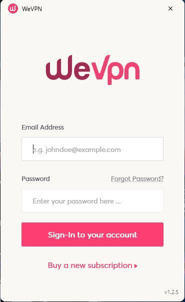 WeVPN App 1