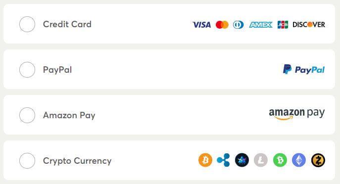 WeVPN Payment Methods